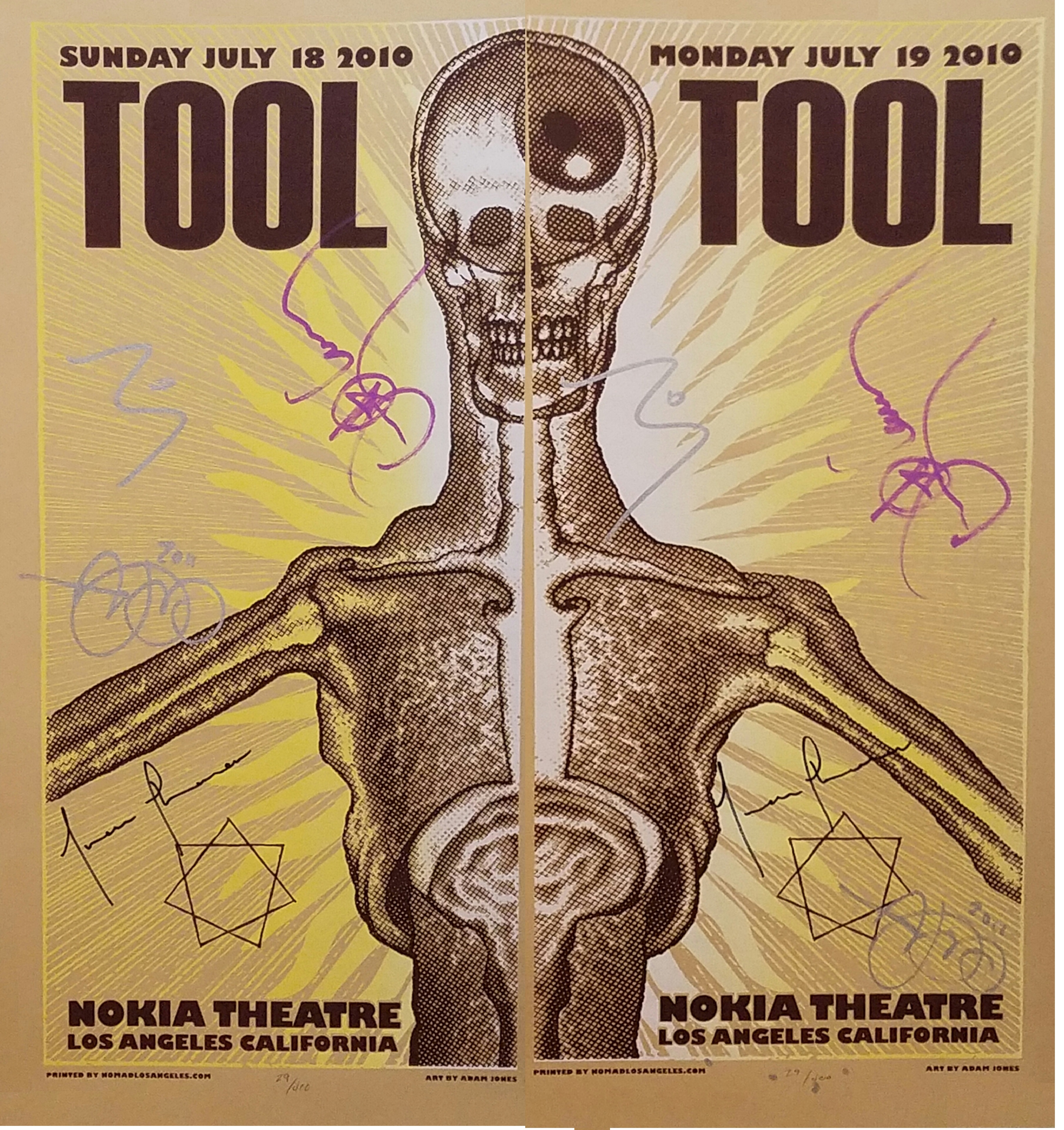 SIGNED OUT-OF-PRINT TOOL CONCERT POSTERS