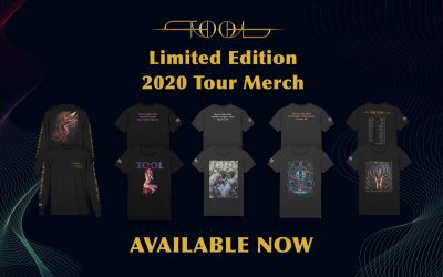 ON SALE NOW LIMITED TOOL SPRING 2020 TOUR MERCH